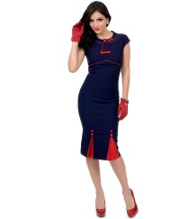 Stop_Staring_1930s_Style_Navy_Red_Bombshell_Pencil_Dress